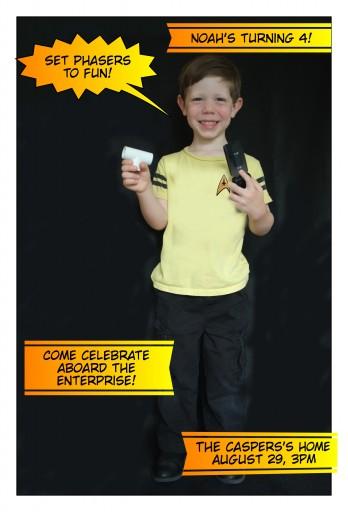 Noah - 4th Birthday Invite